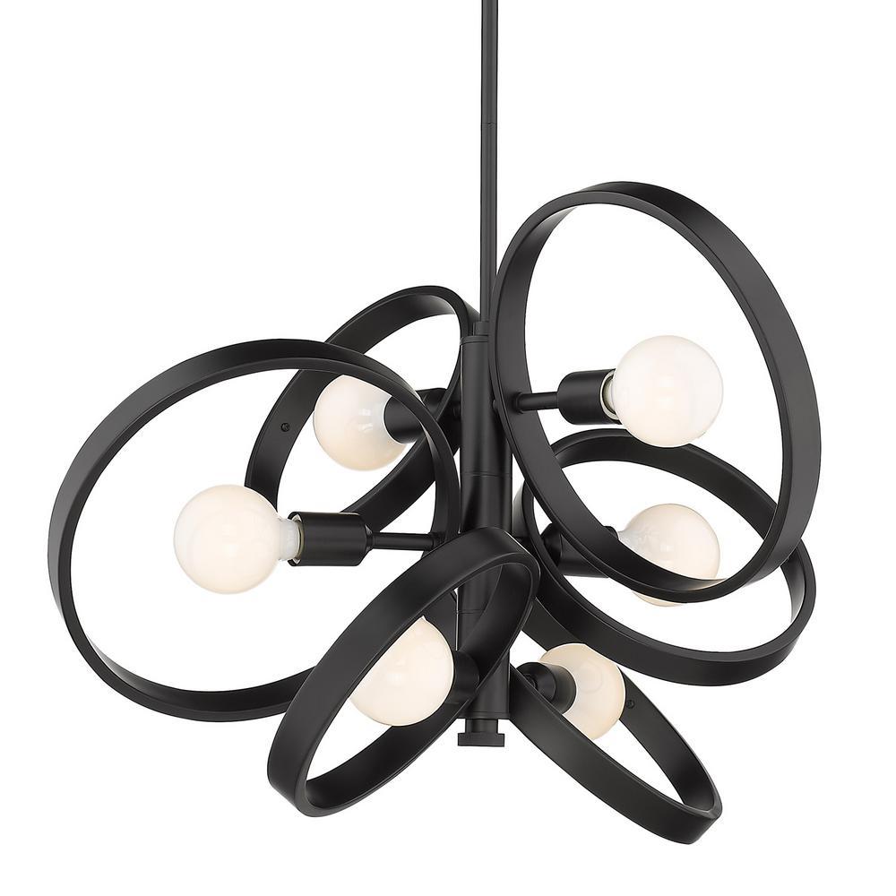 Sloane 6-Light Black Chandelier