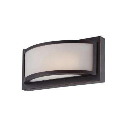 Duranna 10 in. Georgetown Bronze Integrated LED Sconce