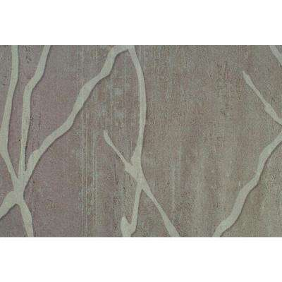 Deep Beige Willow Branch Print Wallpaper