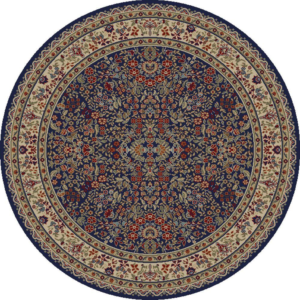 Concord Global Trading Jewel Sarouk Navy 5 Ft 3 In Round
