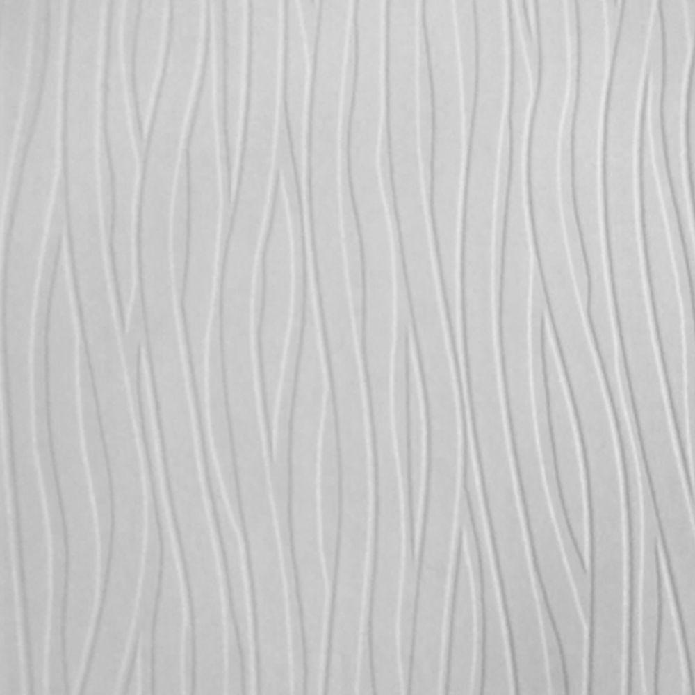 Graham & Brown Wavy Lines Paintable White Wallpaper-18622