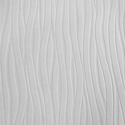 Wavy Lines Paintable White Wallpaper