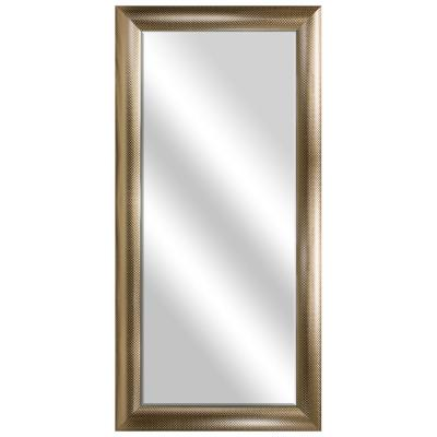 Large Rectangle Rose Gold Beveled Glass Contemporary Mirror (55.5 in. H x 31.5 in. W)