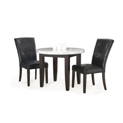 Francis 3-Piece White And Dark Cherry Cafe Dining Set