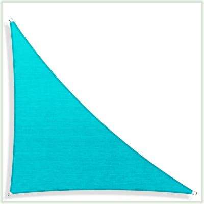 28.3 ft. x 20 ft. x 20 ft. 190 GSM Turquoise Right Triangle Sun Shade Sail Screen Canopy, Patio and Pergola Cover