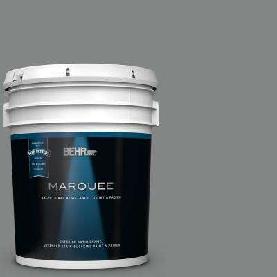 5 gal. #PPU25-17 Euro Gray Satin Enamel Exterior Paint and Primer in One