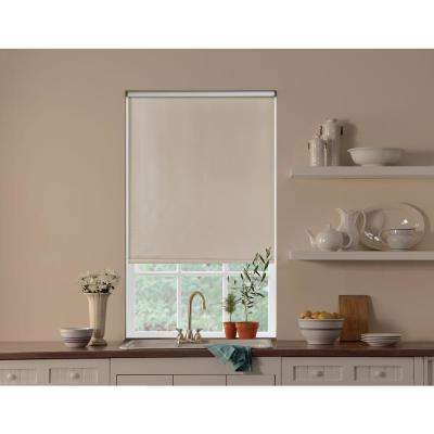 Cut-to-Size Cream Cordless Blackout Fade resistant Roller Shades 23 in. W x 72 in. L