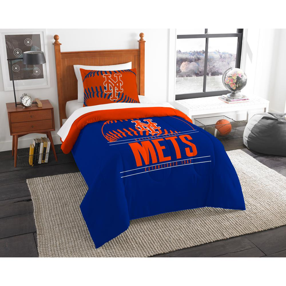 Mets 2 Piece Grandslam Twin Comforter Set 1mlb862010019ret The Home Depot