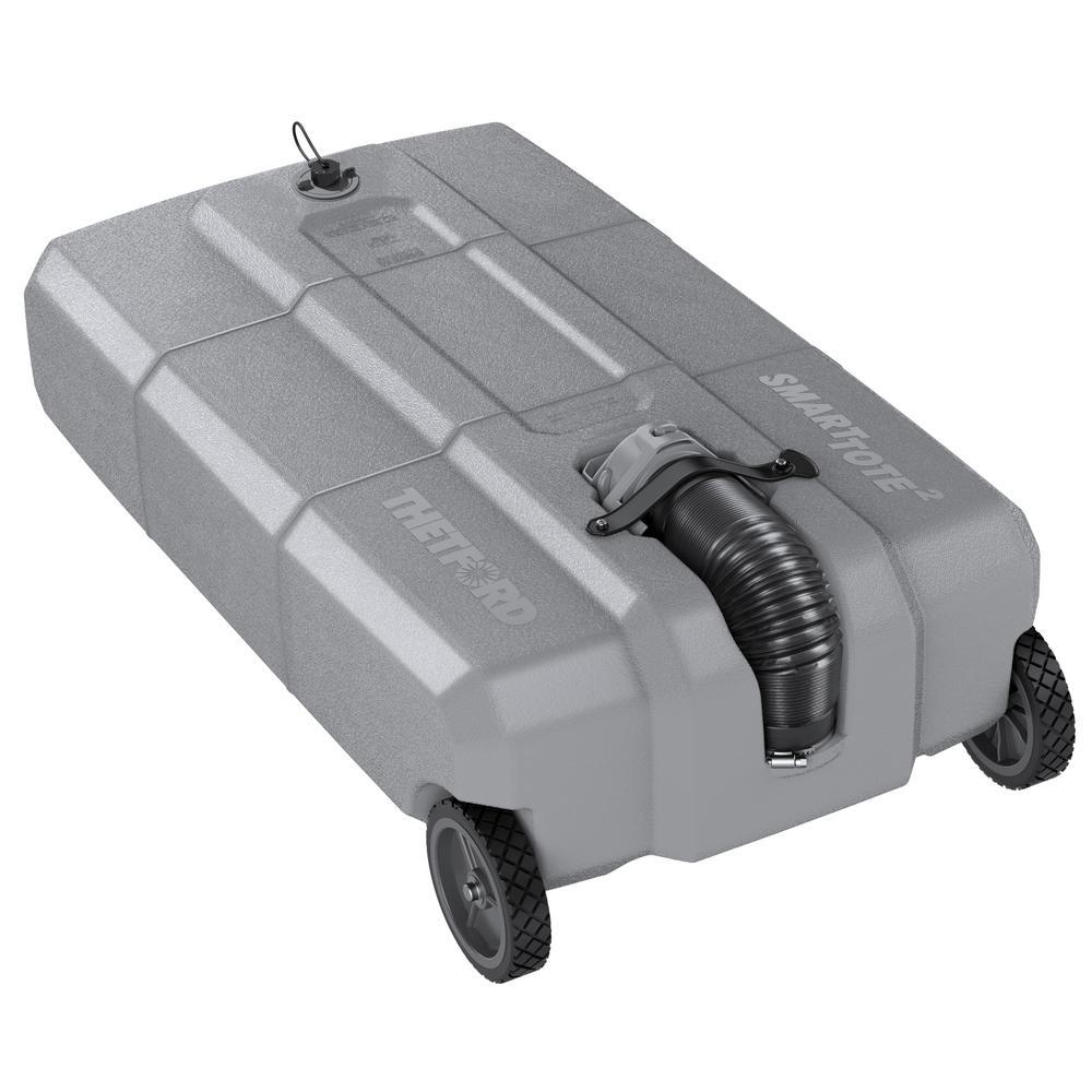 27 Gal. 2-Wheels Portable RV Waste Tote Tank