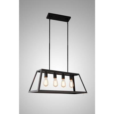 4-Light Oil Rubbed Bronze Pendant