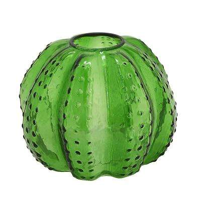 5.25 in. Green Glass Hurricane Candle Holder