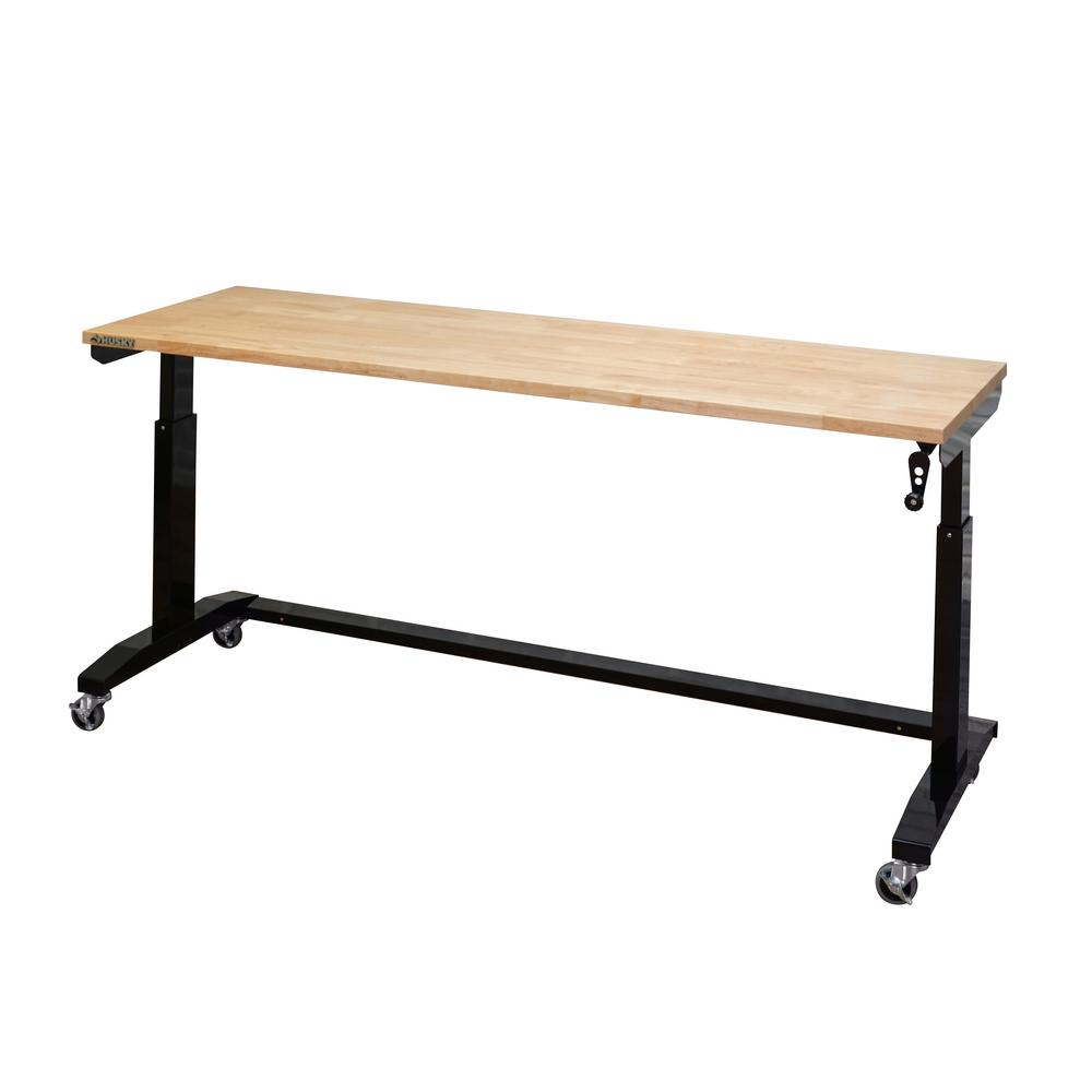 Husky 72 in. Adjustable Height Work Table