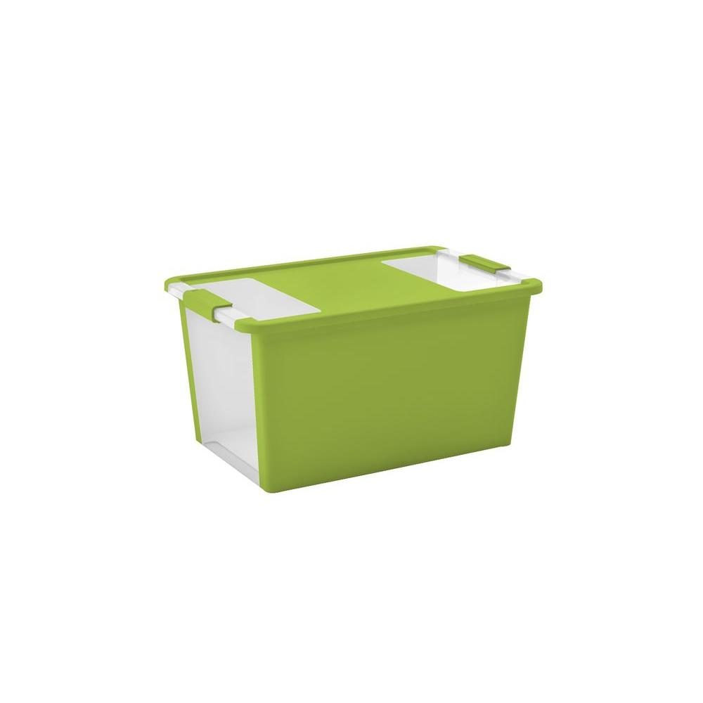 Charmant Large Storage Tote In Lime Green