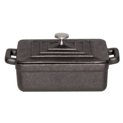 12 oz. Mini Cast Iron Rectangular Dutch Oven in Black