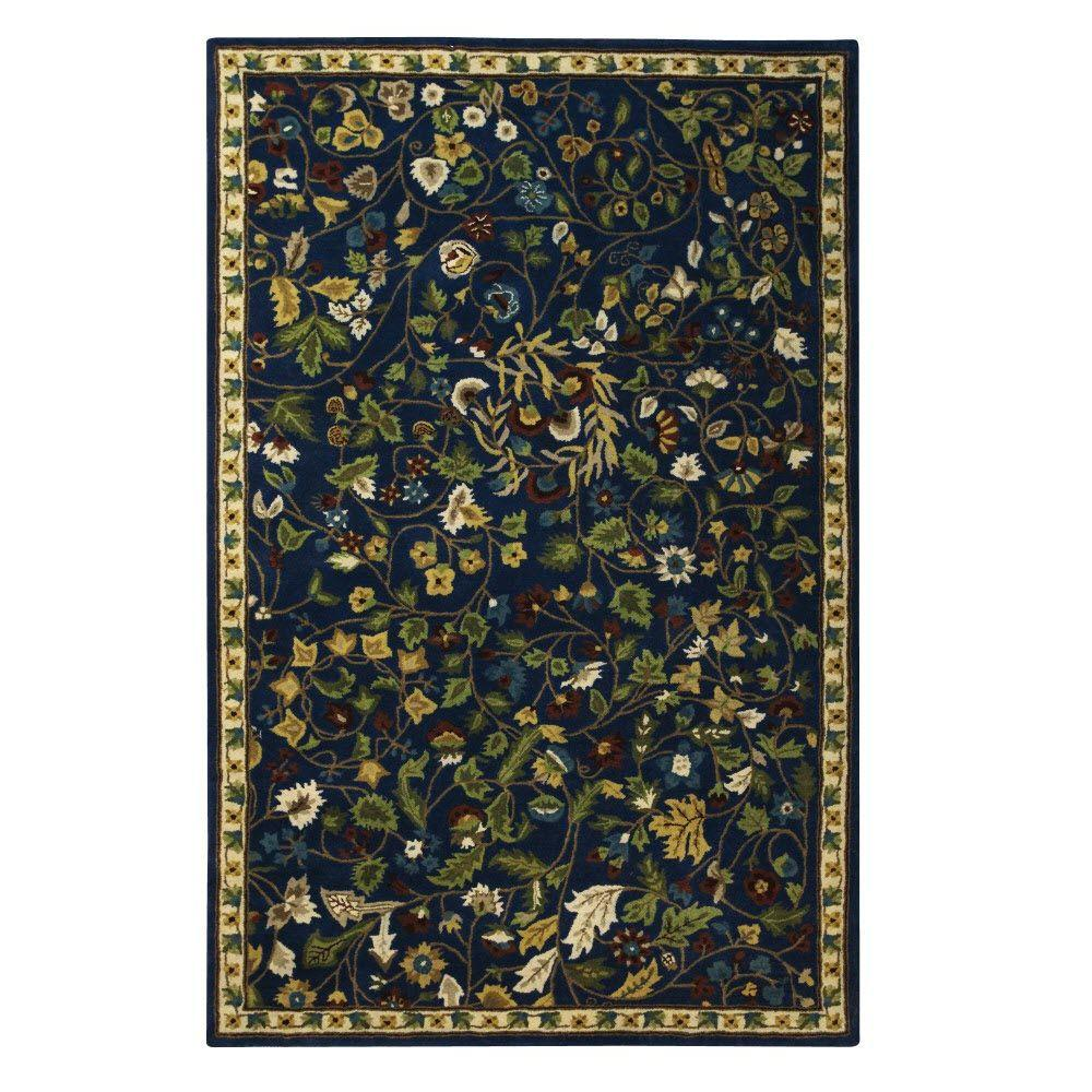 Home Decorators Collection Dampier Blue 5 ft. 3 in. x 8 ft. 3 in. Area Rug