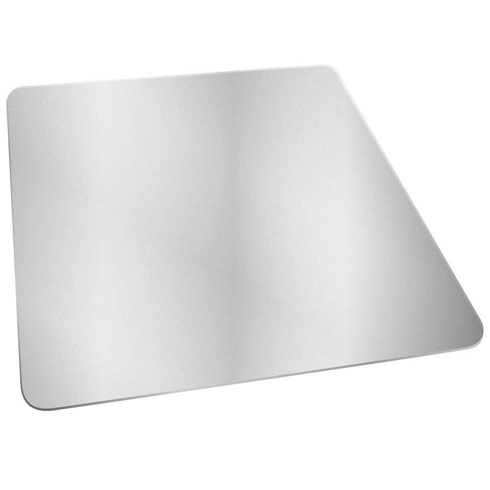 Deflect O Hard Floor Clear 46 In. X 60 In. Vinyl EconoMat Without Lip Chair  Mat CM2E442FCOM   The Home Depot