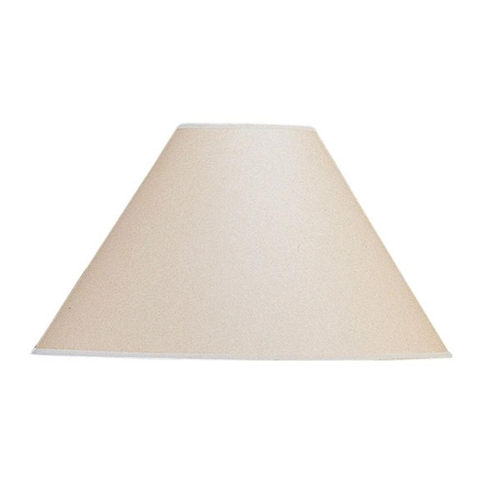 15 in. Beige Vertical Basic Coolie Kraft Paper Hardback Shade