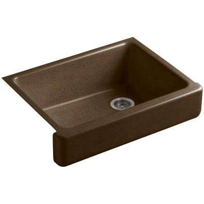 Whitehaven Farmhouse Apron-Front Cast Iron 30 in. Single Basin Kitchen Sink in Black 'n Tan