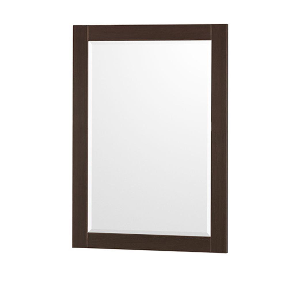 Wyndham Collection Amare 24 in. W x 33 in. H Framed Wall Mirror in Espresso