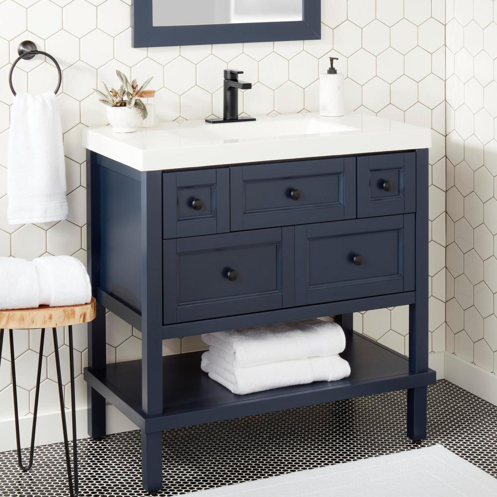 Modern Contemporary Single Hole Single-Handle Low-Arc Bathroom Faucet in Matte Black