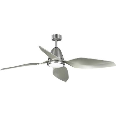Holland 60 in. Integrated LED Brushed Nickel Ceiling Fan with Light