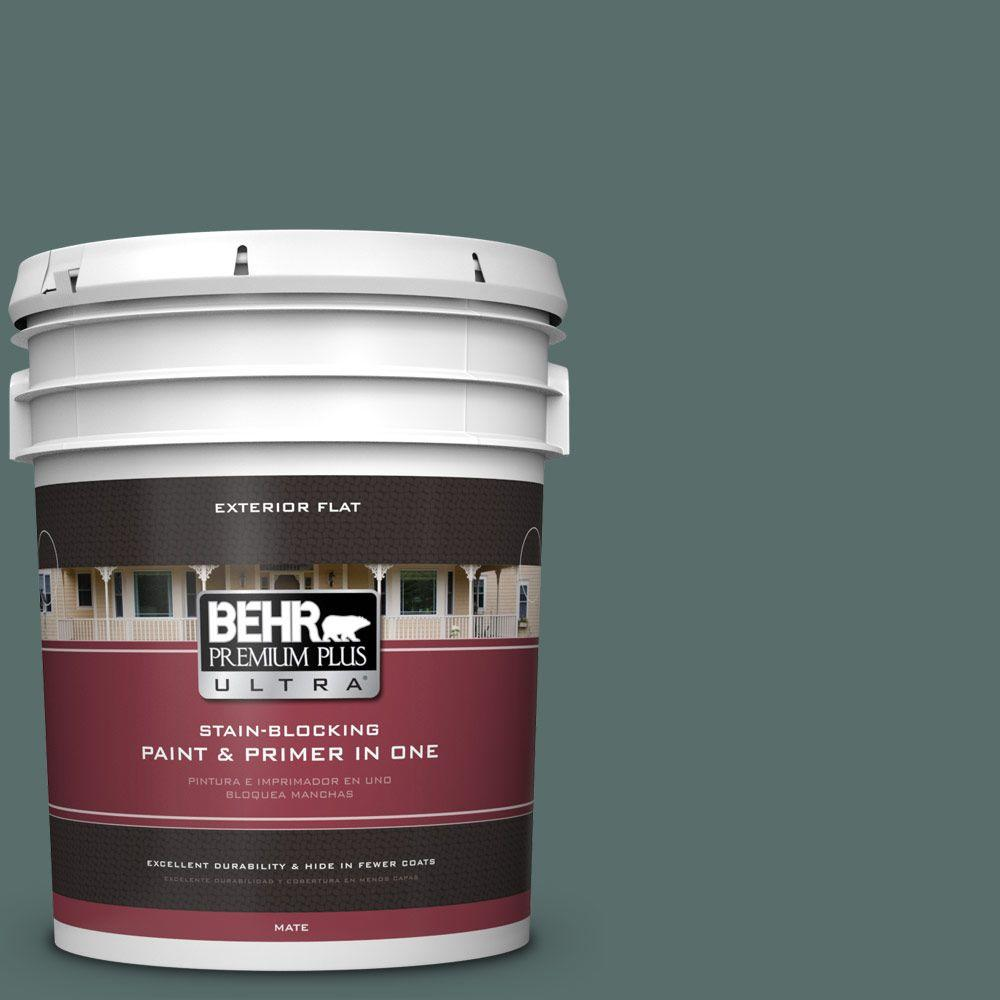 BEHR Premium Plus Ultra 5-gal. #490F-6 Agave Frond Flat Exterior Paint