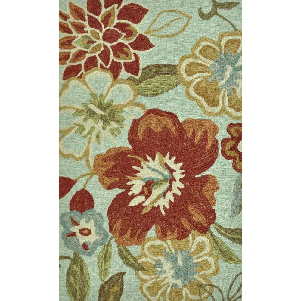 Loloi Rugs Summerton Life Style Collection Mist/Red 2 ft. 3 in. x 3 ft. 9 in. Accent Rug