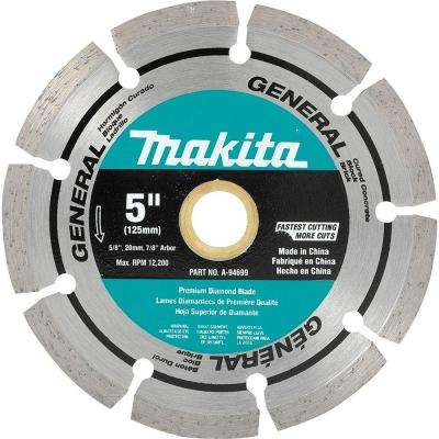 5 in. Steel Segmented General Purpose Diamond Blade