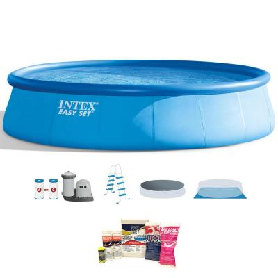 18 ft. x 4 ft. Inflatable Easy Set Pool with Ladder, Pump and Maintenance Kit