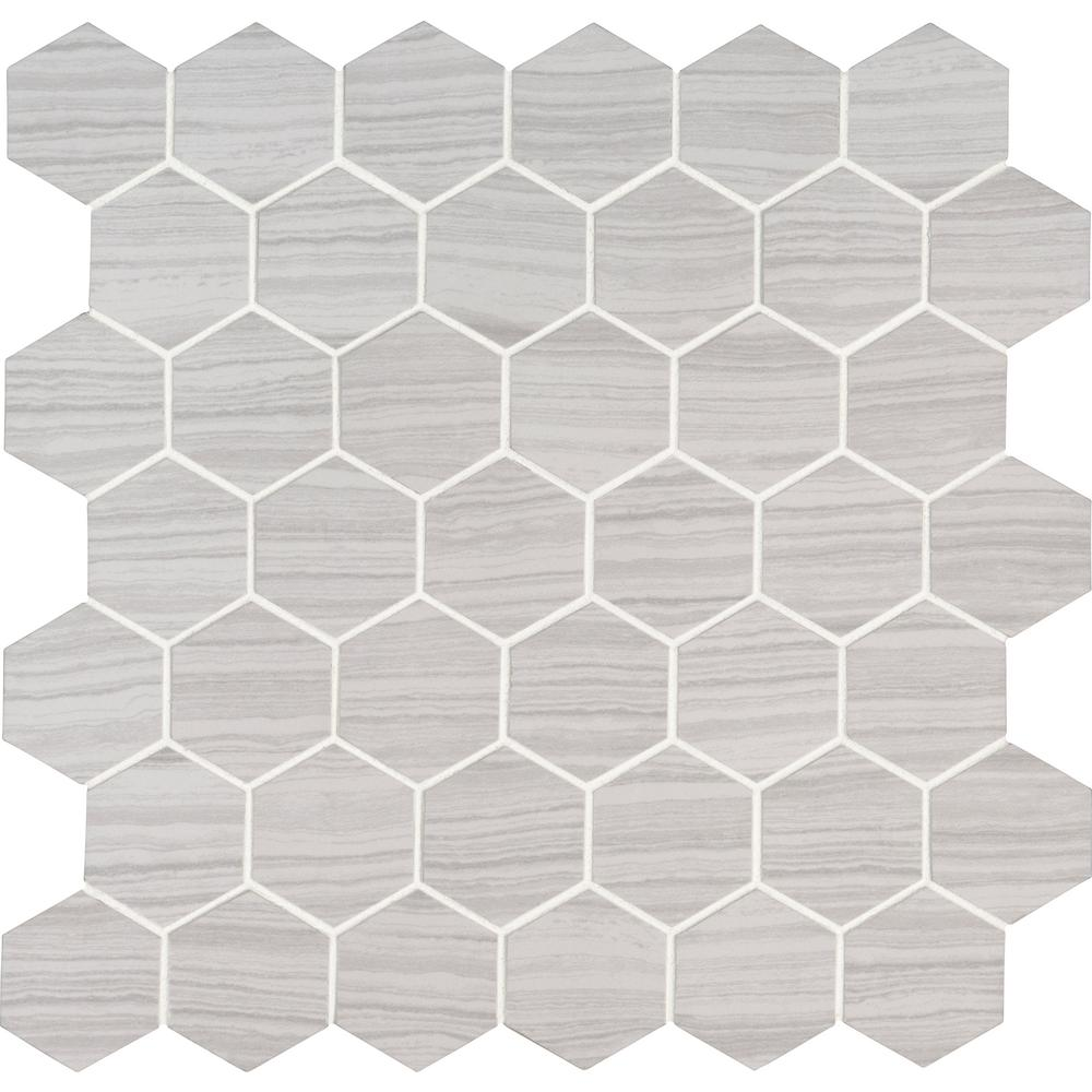 MSI Trinity Ivory Hexagon 12 in. x 12 in. x 10mm Matte Porcelain Mesh-Mounted Mosaic Tile (1 sq. ft.)