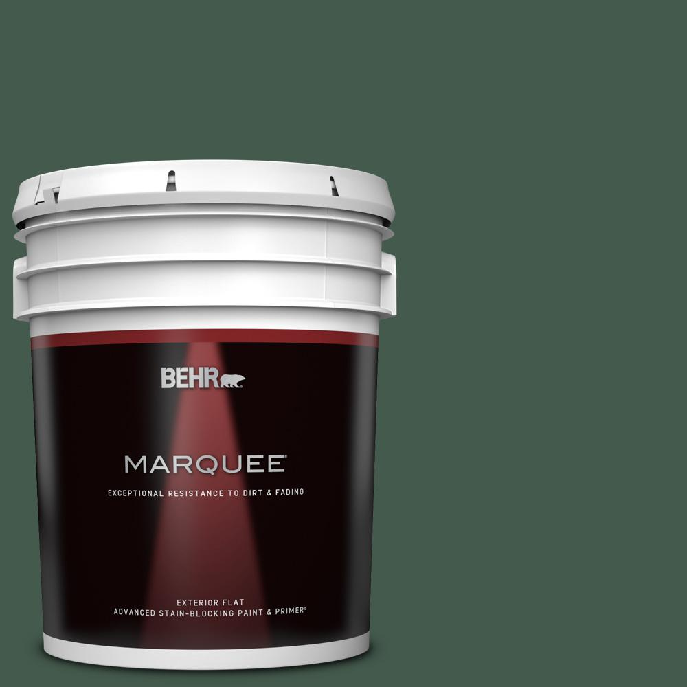 Behr Marquee 5 Gal Qe 40 Alpine Flat Exterior Paint And Primer In One 445305 The Home Depot