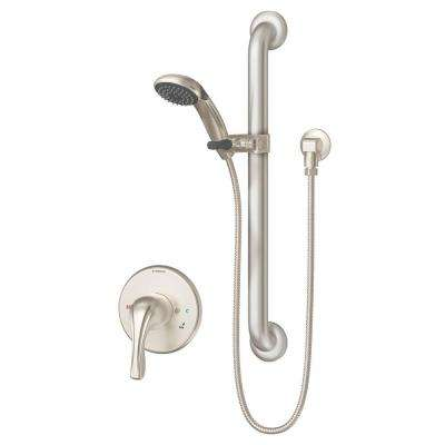 Origins Temptrol 1-Spray Hand Shower System in Satin Nickel with Stops (Valve Included)