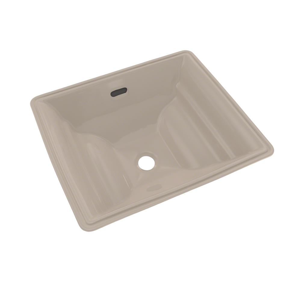 Toto Aimes 17 In Undermount Bathroom Sink With Cefiontect In Bone Lt626g 03 The Home Depot