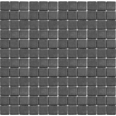 Teaz Earl Grey-1202 Mosaic Recycled Glass 12 in. x 12 in. Mesh Mounted Floor & Wall Tile (5 sq. ft. / case)