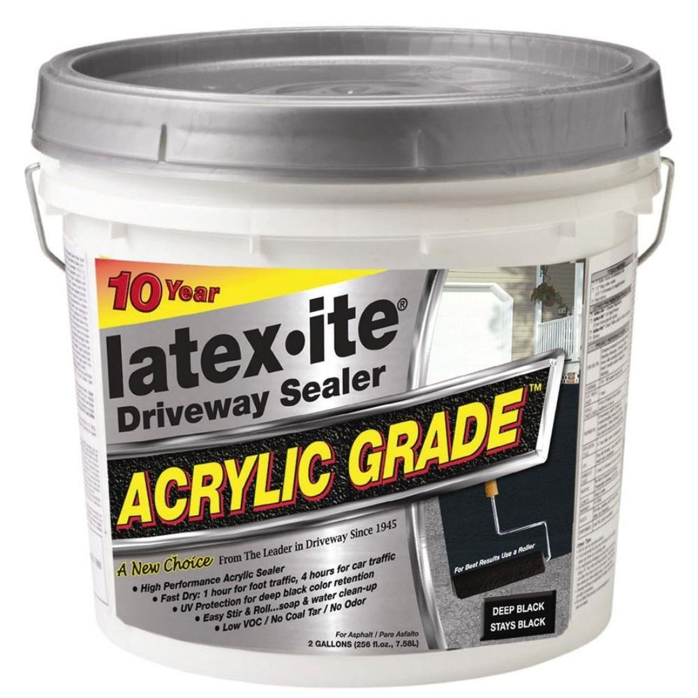 Latex-ite 2 Gal. Acrylic-Grade Driveway Sealer-31766 - The ...