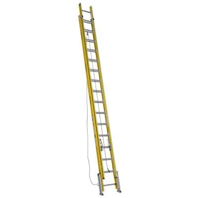 32 ft. Fiberglass D-Rung Leveling Extension Ladder with 375 lb. Load Capacity Type IAA Duty Rating