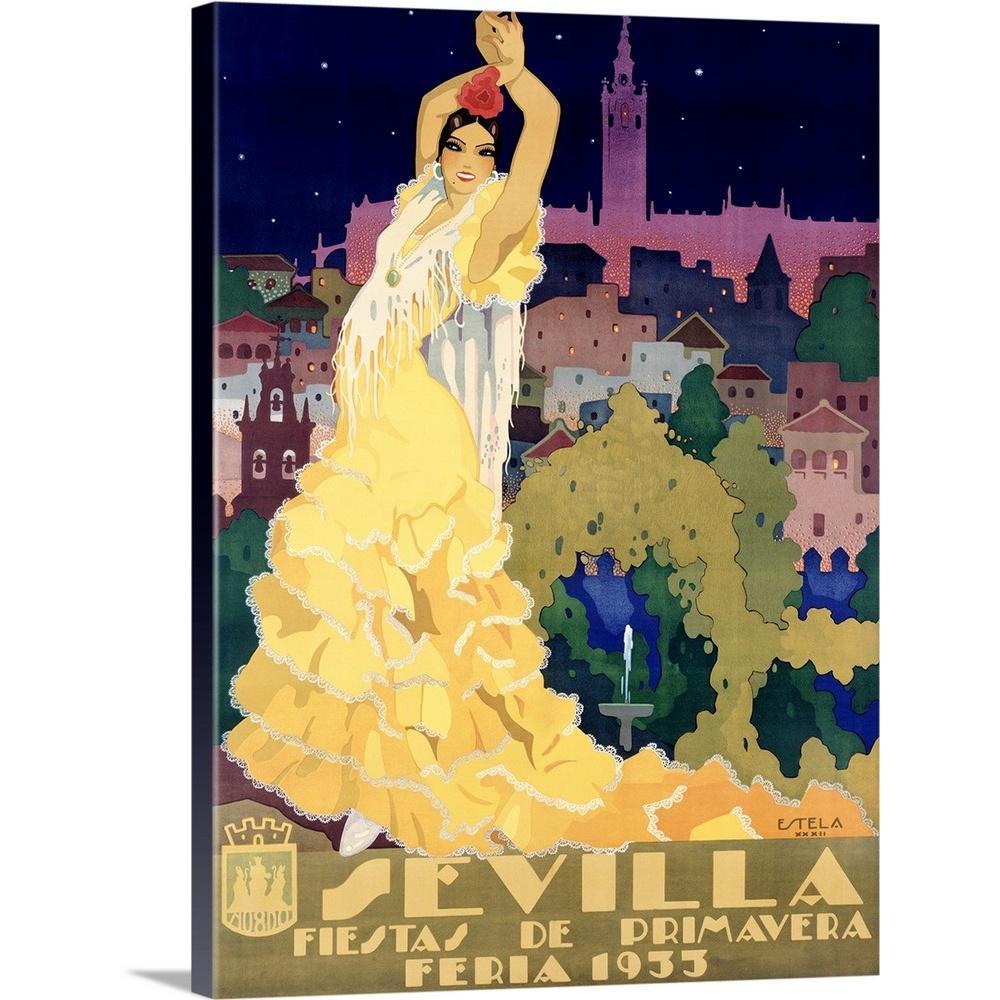 """1933 Sevilla Fiesta Vintage Advertising Poster"" by ArteHouse Canvas Wall Art"