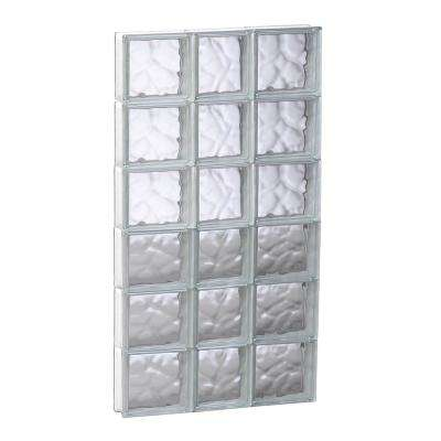 21.25 in. x 46.5 in. x 3.125 in. Frameless Wave Pattern Non-Vented Glass Block Window