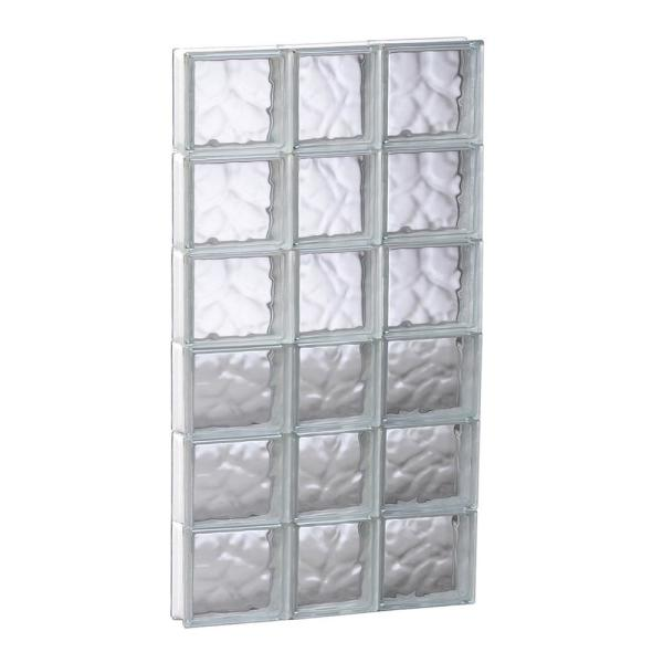 Clearly Secure 21 25 In X 46 5 In X 3 125 In Frameless Wave Pattern Non Vented Glass Block Window 2248sdc The Home Depot