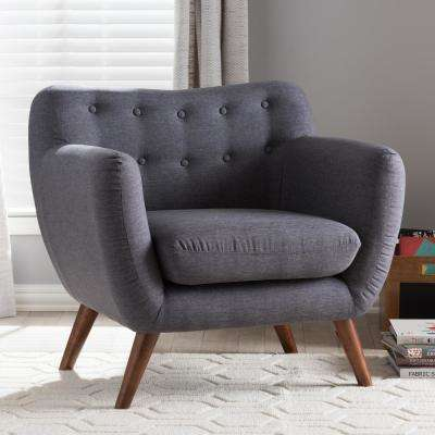 Harper Dark Gray Fabric Upholstered Accent Chair
