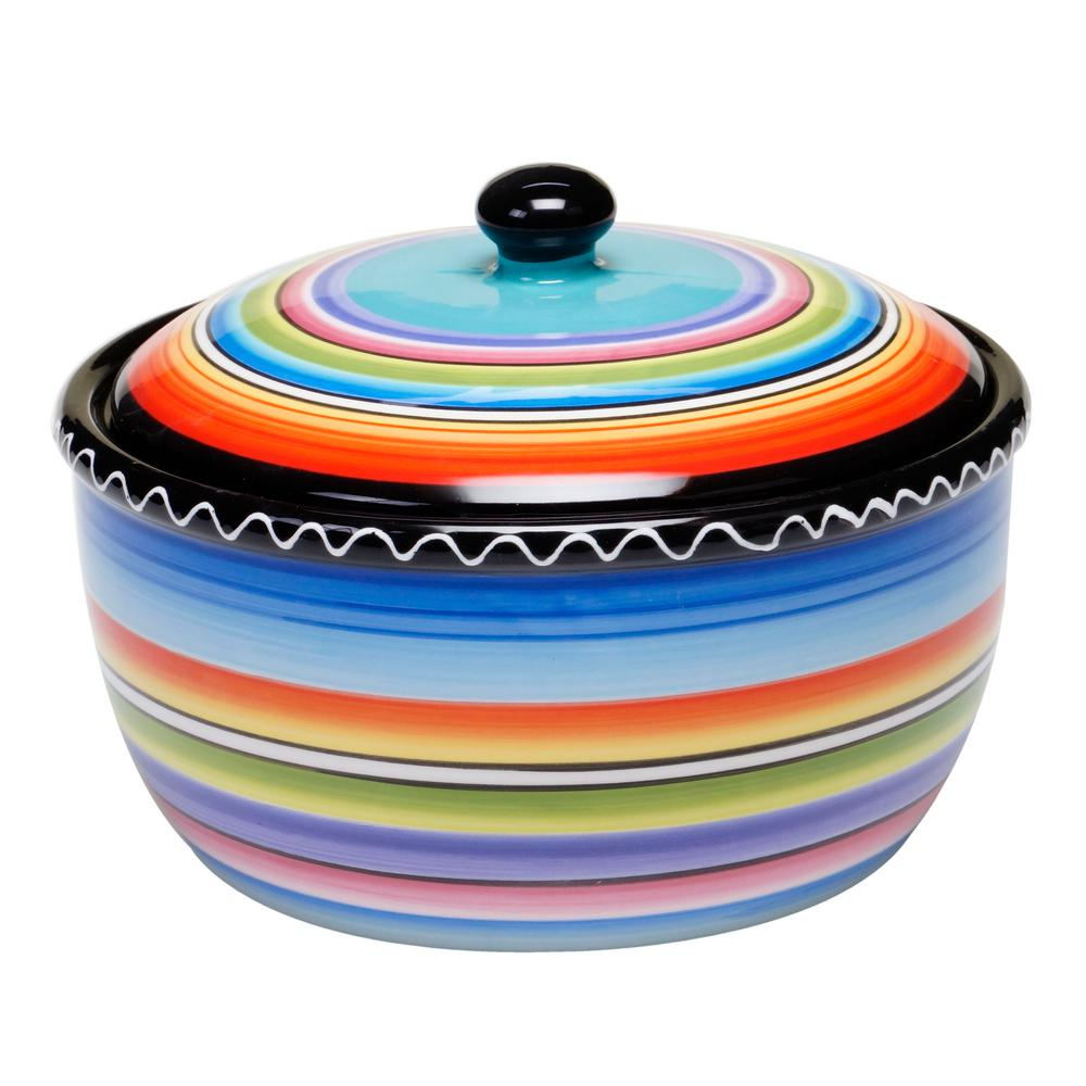 Certified International The Tequila Sunrise Collection Bean Pot 2 Qt 43550
