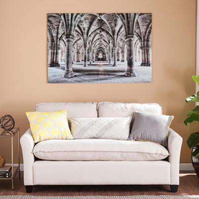 "32 in. H x 47 in. W ""Gothic Arches"" Glass Wall Art"