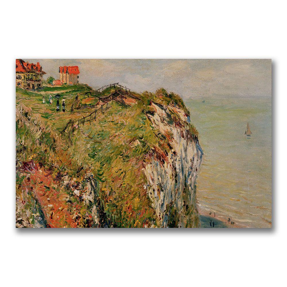 Trademark Fine Art 35 in. x 47 in. Cliff at Dieppe 1882 Canvas Art