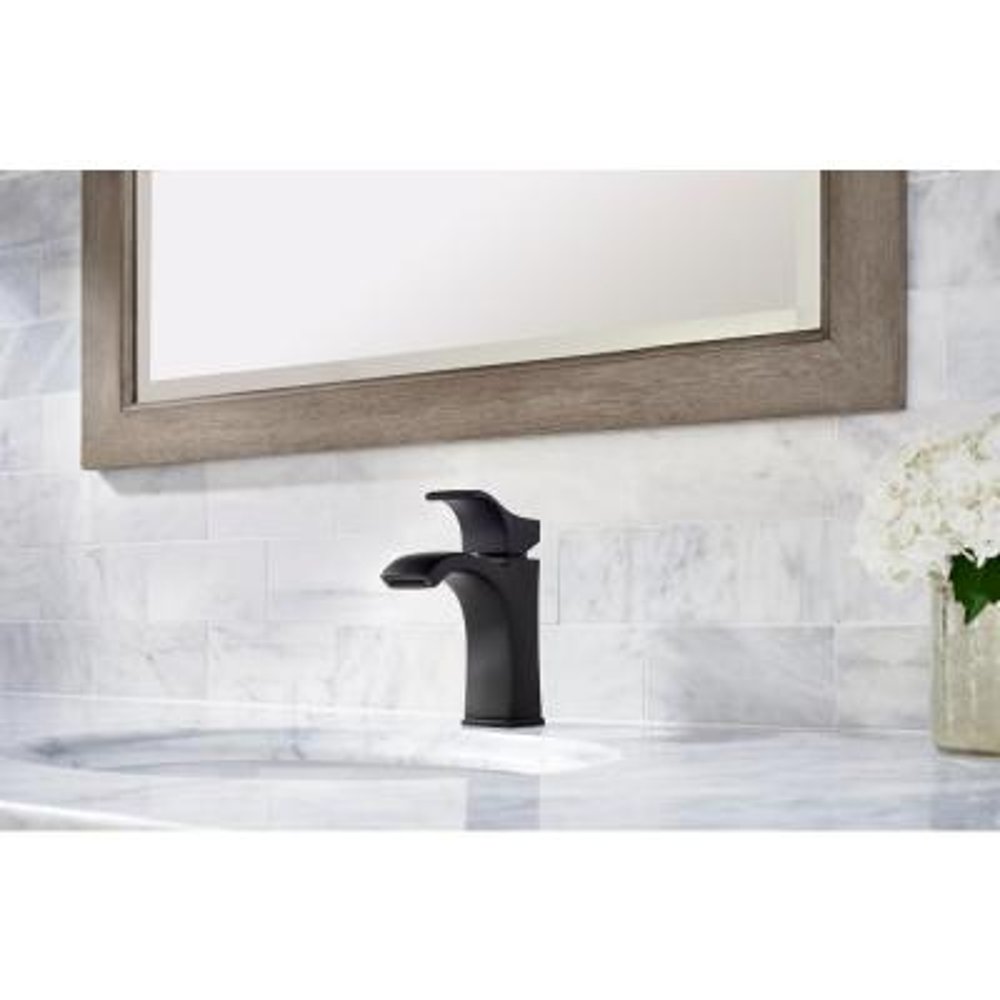 Venturi 4 in. Centerset Single-Handle Bathroom Faucet in Matte Black