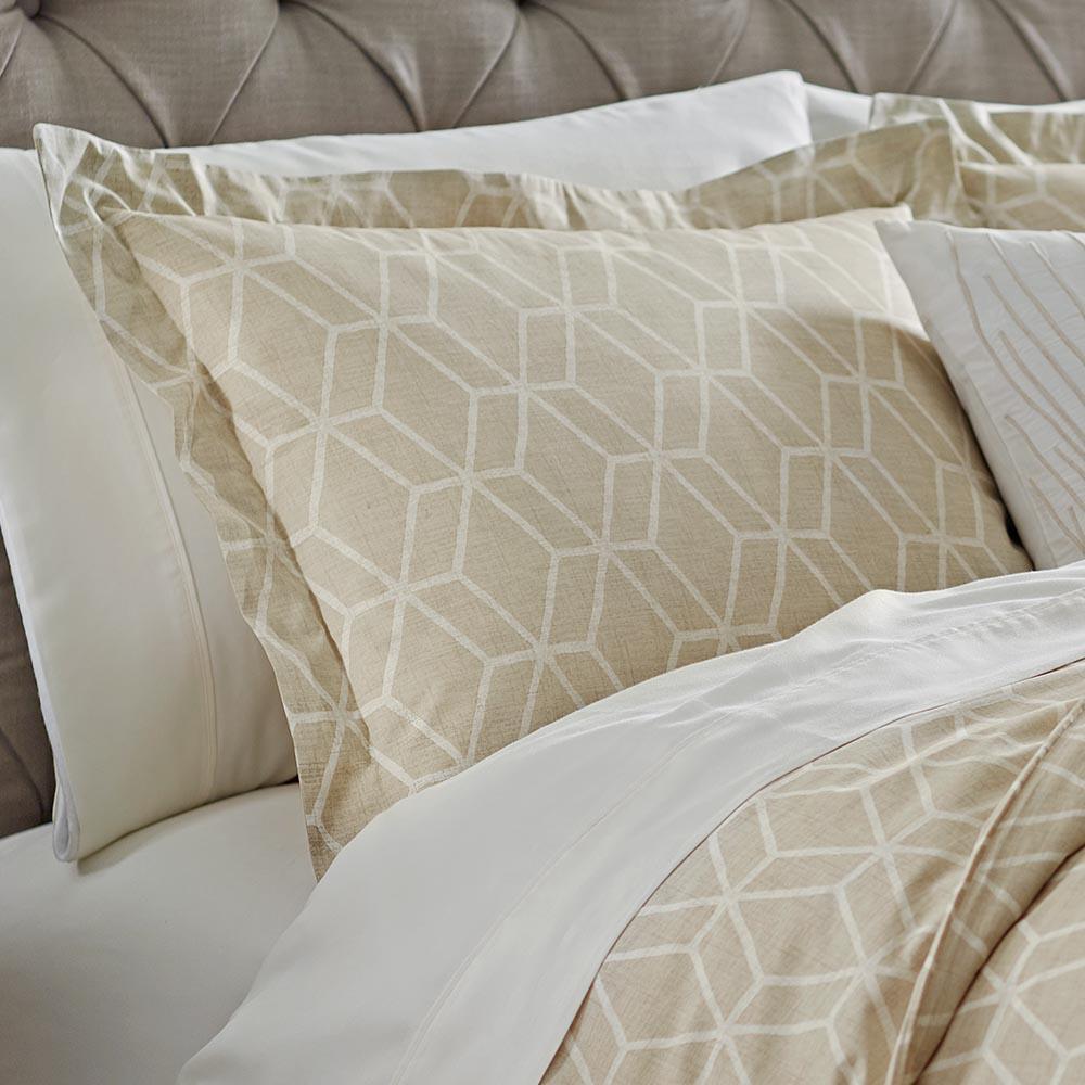 Geome Putty Standard Pillow Sham