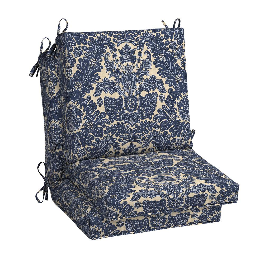 hampton bay Chelsea Damask Outdoor Dining Chair Cushion (2-Pack)