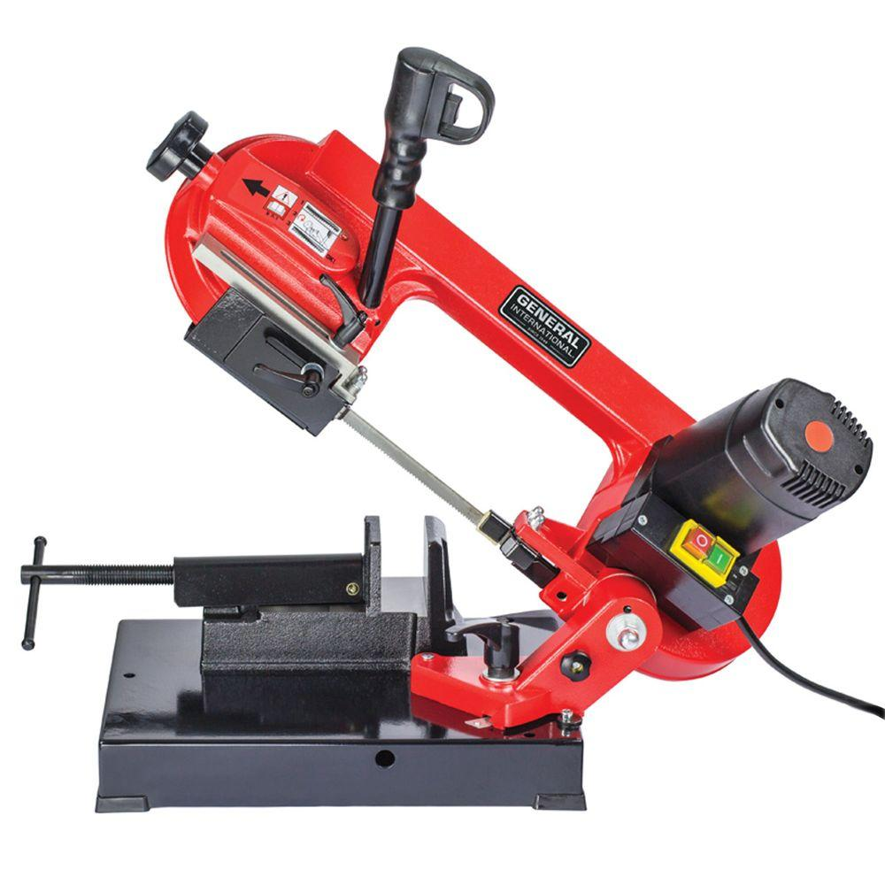 General International 5 Amp 4 in. Portable Universal Cutting Band Saw
