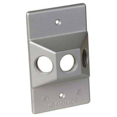 1-Gang Rectangular Lampholder Cover with 3 1/2 in. Holes (Case of 15)