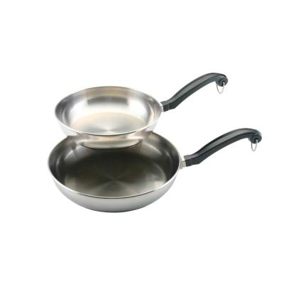 Classic Stainless Steel Stovetop Skillet Set