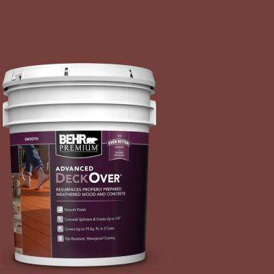 5 gal. #SC-112 Barn Red Smooth Solid Color Exterior Wood and Concrete Coating